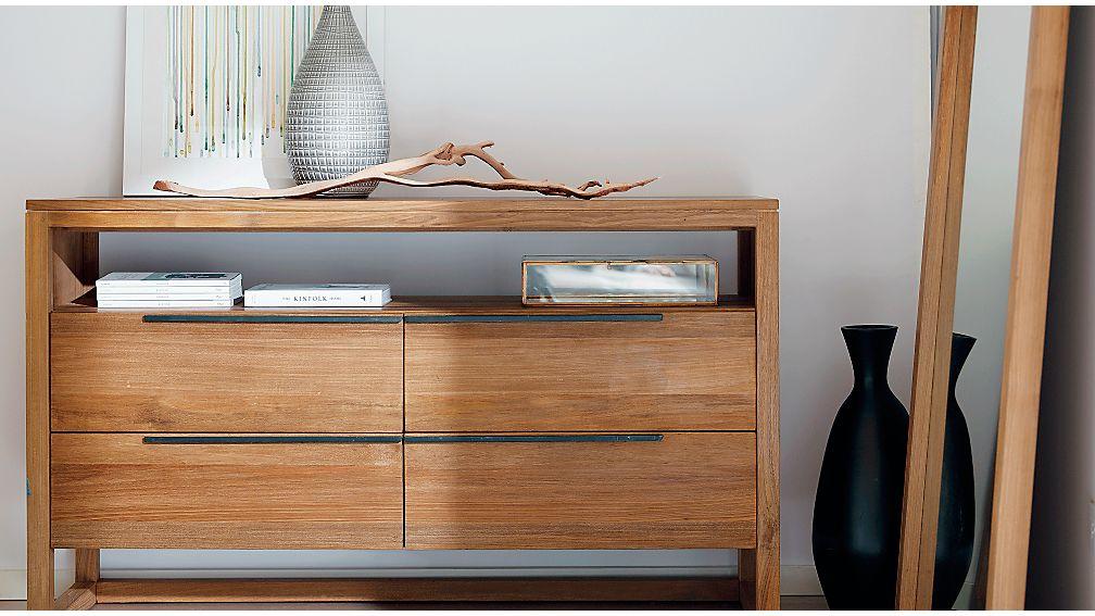 Linea II Natural Four-Drawer Dresser