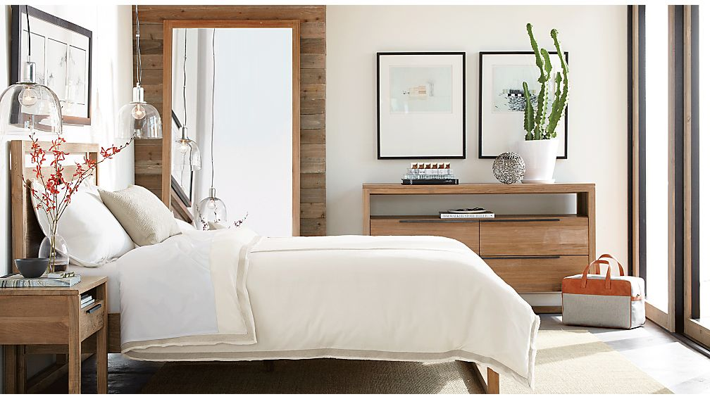 Linea II Natural Bed Crate and Barrel