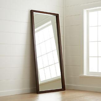 Linea Mocha Floor Mirror
