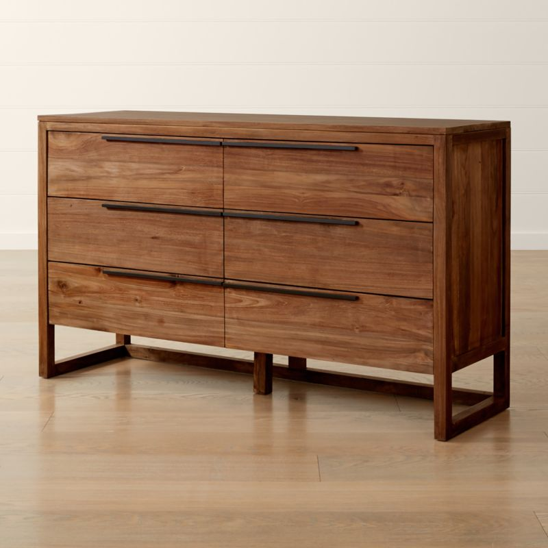 Linea Natural 6 Drawer Dresser