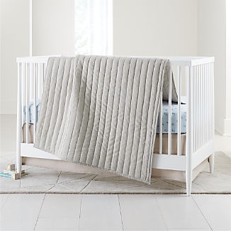 Linen Grey Baby Bedding