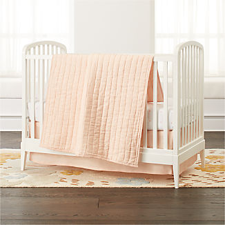 Linen Light Pink Baby Bedding