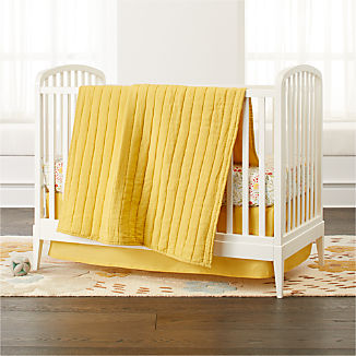 Linen Yellow Baby Bedding