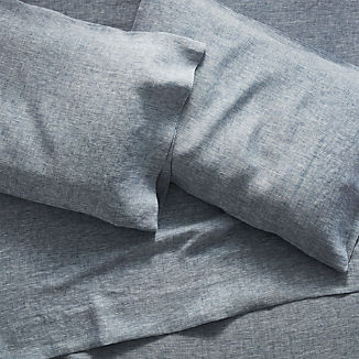 Linen Blue Sheet Sets