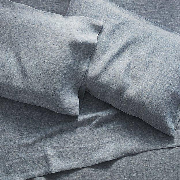 Linen Blue Sheet Sets - Image 1 of 6