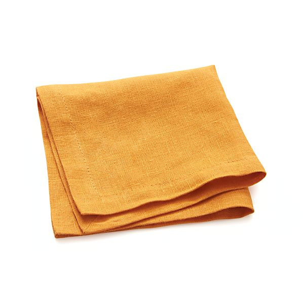 Linen Marigold Cocktail Napkin