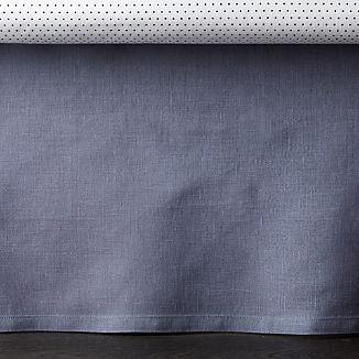 Linen Dark Blue Crib Skirt