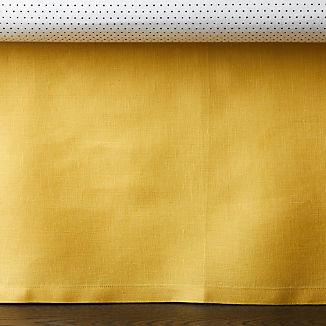 Linen Dark Yellow Crib Skirt