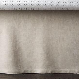 Linen Grey Crib Skirt