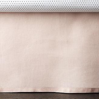 Linen Light Pink Crib Skirt