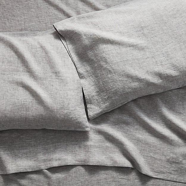 Linen Grey King Sheet Set - Image 1 of 8