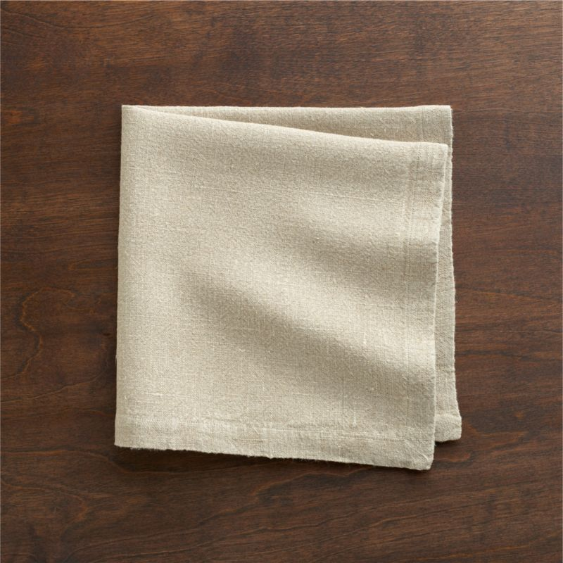 """Pure, natural linen is stonewashed for exceptional softness and heirloom looks that age gracefully. Woven of sustainable, renewable flax, napkins will develop a subtle sheen after each wash. Fashioned with graceful 2"""" hems.<br /><br /><NEWTAG/><ul><li>100% linen woven of eco-friendly flax</li><li>Machine wash, reshape and dry flat; warm iron as needed</li></ul>"""