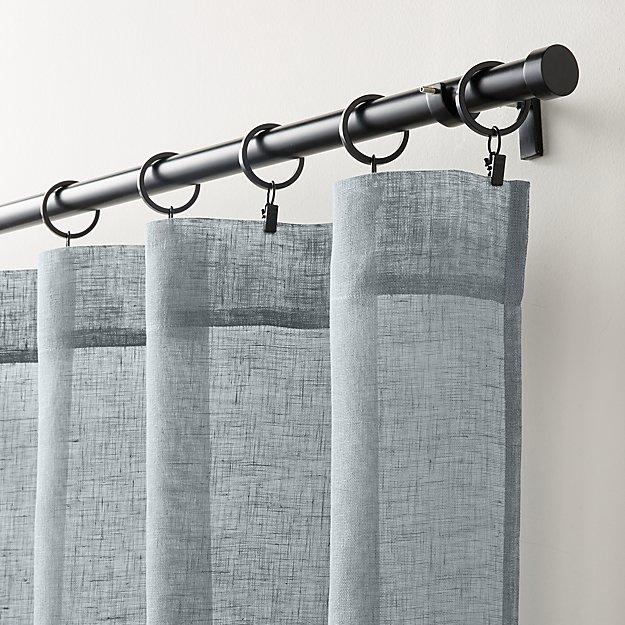 Linen Sheer Lead Curtain Panel - Image 1 of 5