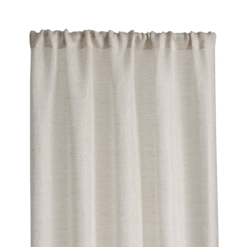 Linen Sheer 52 Quot X63 Quot Natural Curtain Panel Reviews
