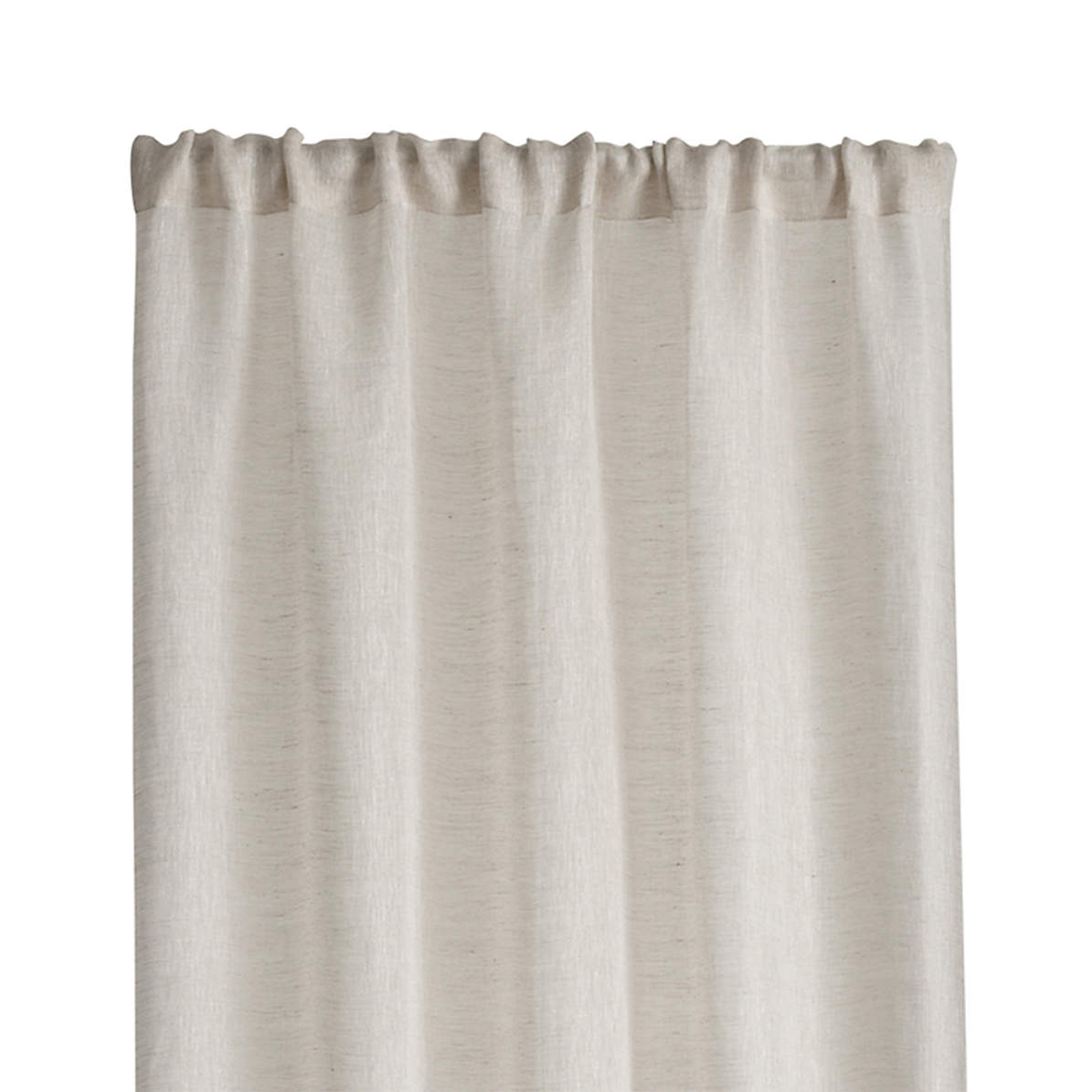 Linen Sheer 52 X63 Natural Curtain Panel Reviews Crate And Barrel