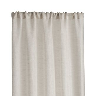 "Linen Sheer 52""x84"" Natural Curtain Panel"