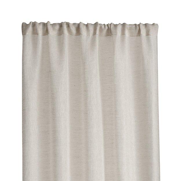 "Linen Sheer 52""x120"" Natural Curtain Panel - Image 1 of 11"