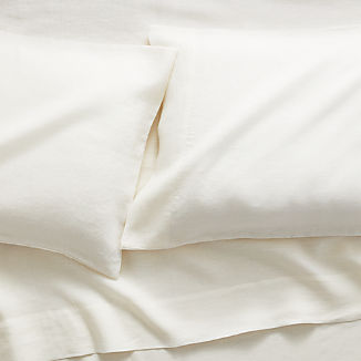 Linen Warm White Sheet Sets