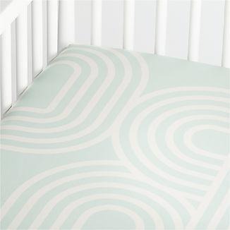 Organic Linework Crib Fitted Sheet