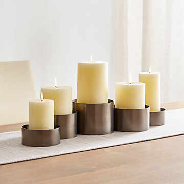 Candle Holders: Votive, Pillar and Lantern | Crate and Barrel