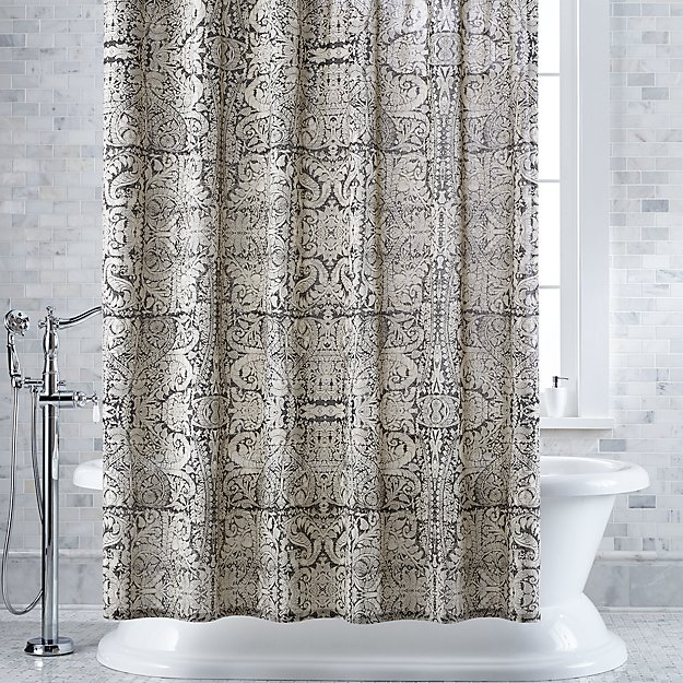 Linley Damask Charcoal Shower Curtain Reviews