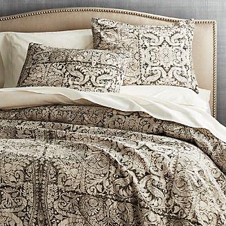 linley charcoal damask print duvet cover fullqueen colors