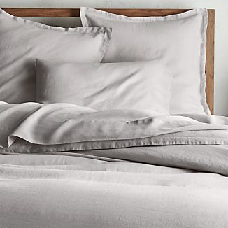 Lino II Light Grey Linen King Duvet Cover