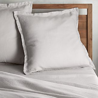 Lino II Light Grey Linen Euro Sham