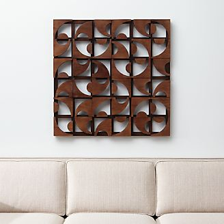Square Metal Wall Art wall art: wood, metal and fabric designs | crate and barrel