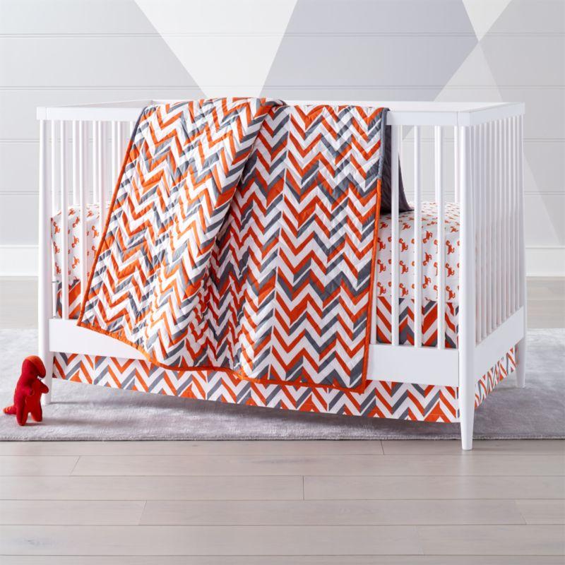 Orange Chevron Crib Bedding Crate And Barrel