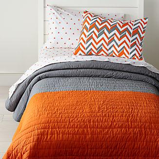 Little Prints Orange Kids Bedding
