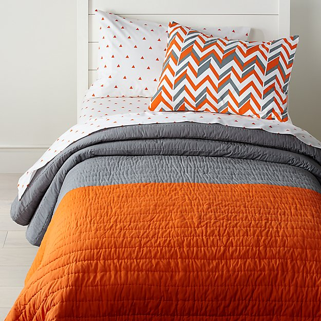Little Prints Orange Kids Bedding - Image 1 of 5