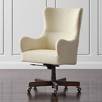 Charming Liv Upholstered Wingback Office Chair