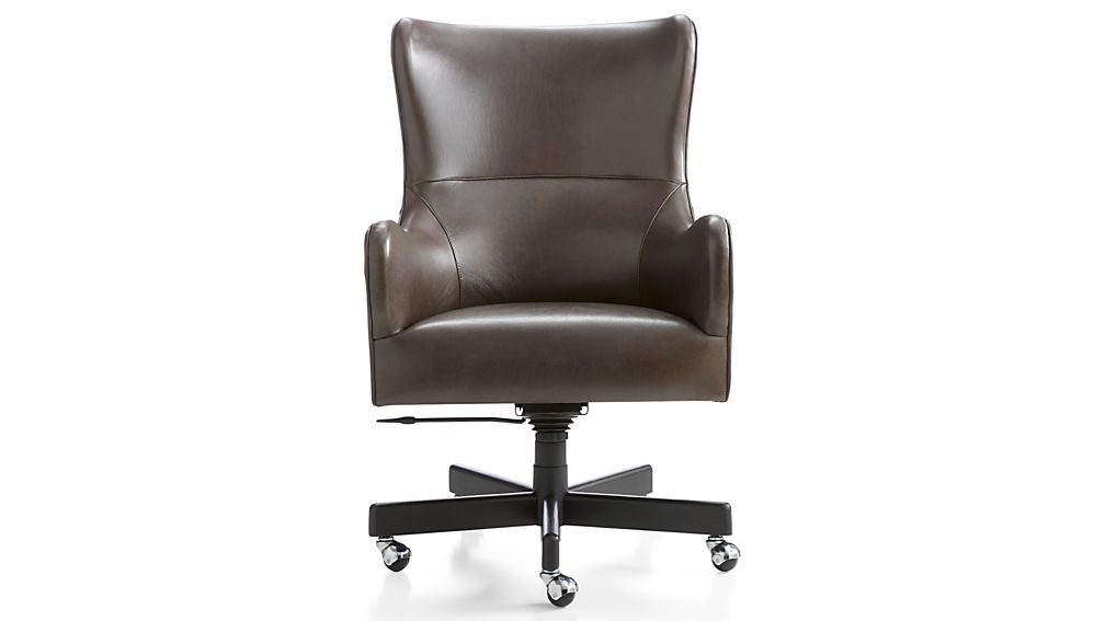 Liv Leather Wingback Office Chair