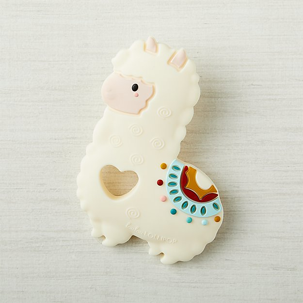 Loulou Lollipop Llama Silicone Teether + Reviews  f4b84b37032d