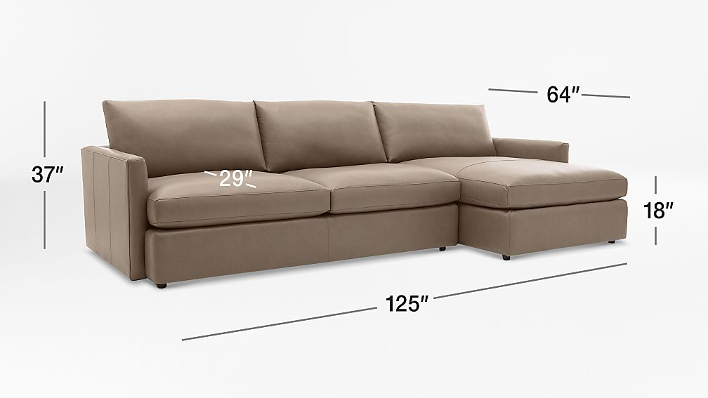 Lounge ii leather 2 piece right arm chaise sectional sofa for Elena leather 2 piece sectional sofa sofa chaise