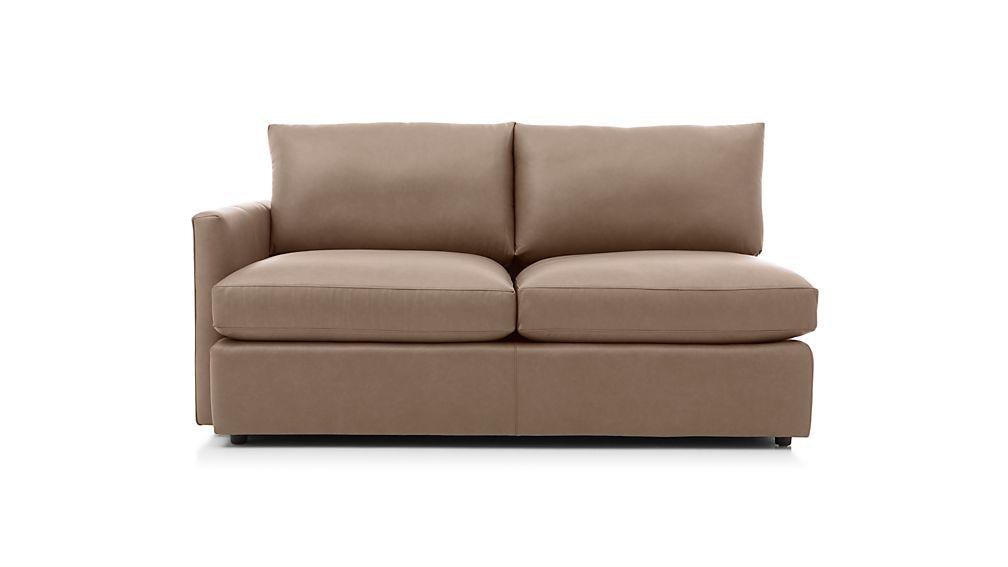 Lounge II Petite Leather Left Arm Apartment Sofa