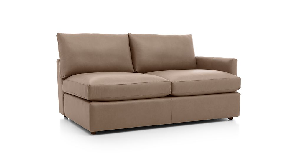 Lounge II Leather Right Arm Apartment Sofa