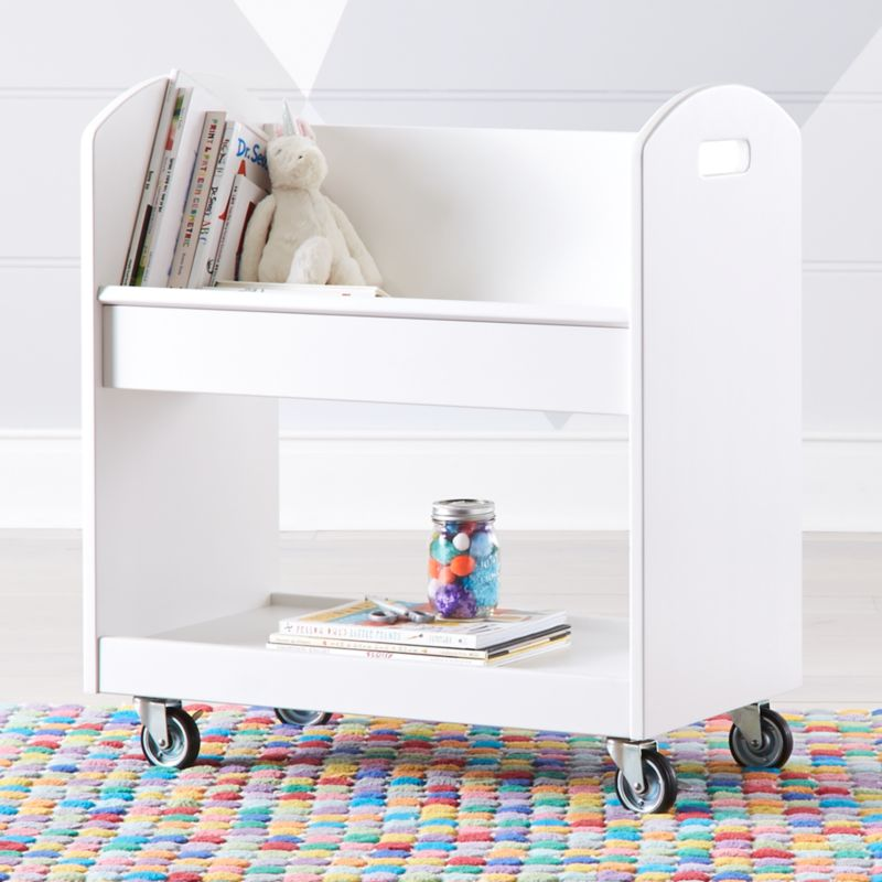 White Local Branch Library Cart Reviews Crate And Barrel