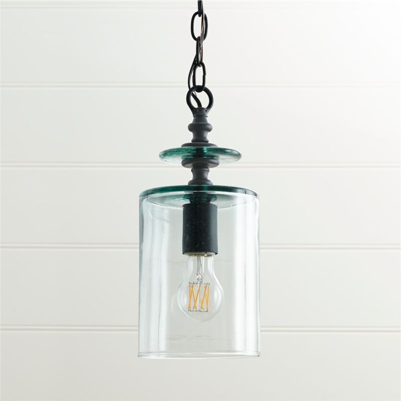 Loden Recycled Glass Pendant Light Reviews Crate And