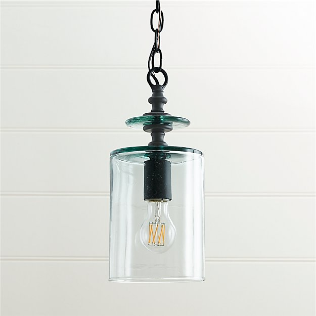 Loden recycled glass pendant light reviews crate and barrel mozeypictures Images