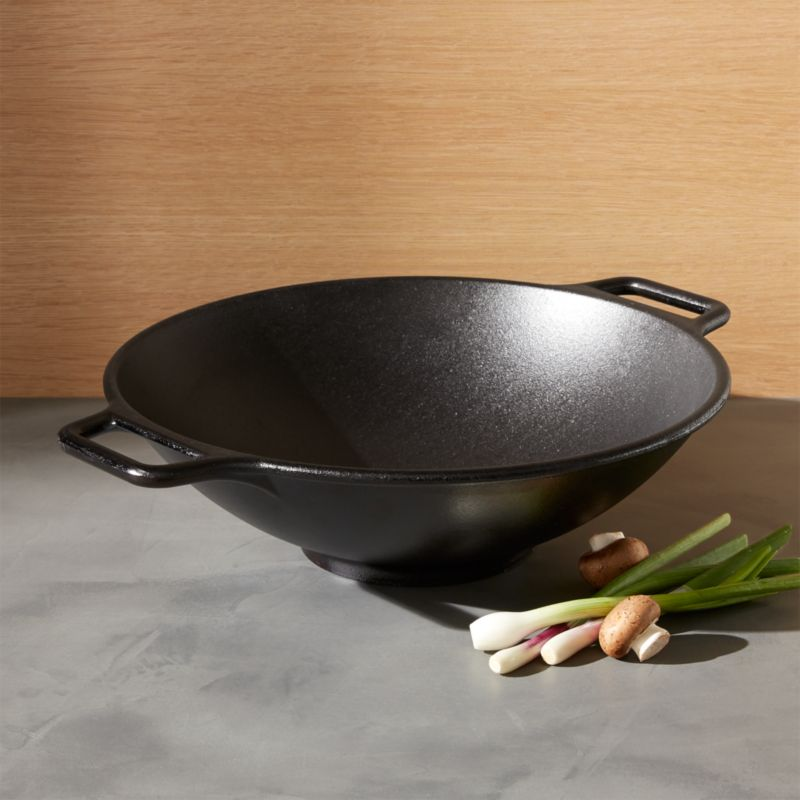 Lodge Cast Iron Wok Reviews Crate And Barrel