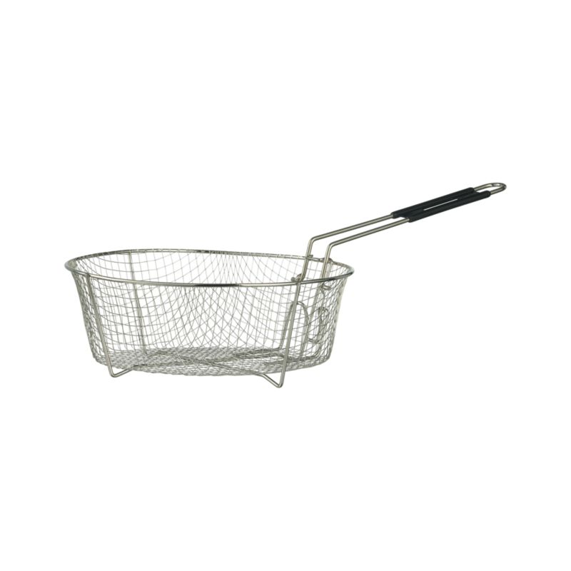 """Nickel-plated steel basket fries up frites, seafood, fritters and other crispy favorites when paired with our Lodge® Cast Iron Deep Skillet.<br /><br />More Lodge® available via special order. Please contact your <a    href=""""Stores/Listing.aspx"""">local store.</a><br /><br /><NEWTAG/><ul><li>Nickel-plated steel</li><li>Dishwasher- and oven-safe</li><li>Made in China</li></ul>"""