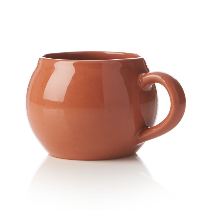 Cozy up with our lodge-worthy terracotta mugs, wonderfully rounded and glazed glossy in warm brick brown.<br /><br /><NEWTAG/><ul><li>Terracotta</li><li>Dishwasher-, microwave- and oven-safe to 250 degrees</li><li>Made in Portugal</li></ul>