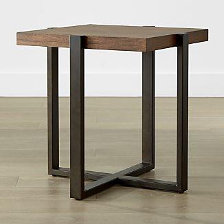 poplar wood furniture. Lodge Square Side Table Poplar Wood Furniture