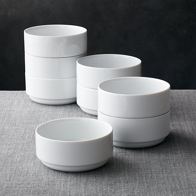 Logan Stacking Bowls Set Of 8 Crate And Barrel
