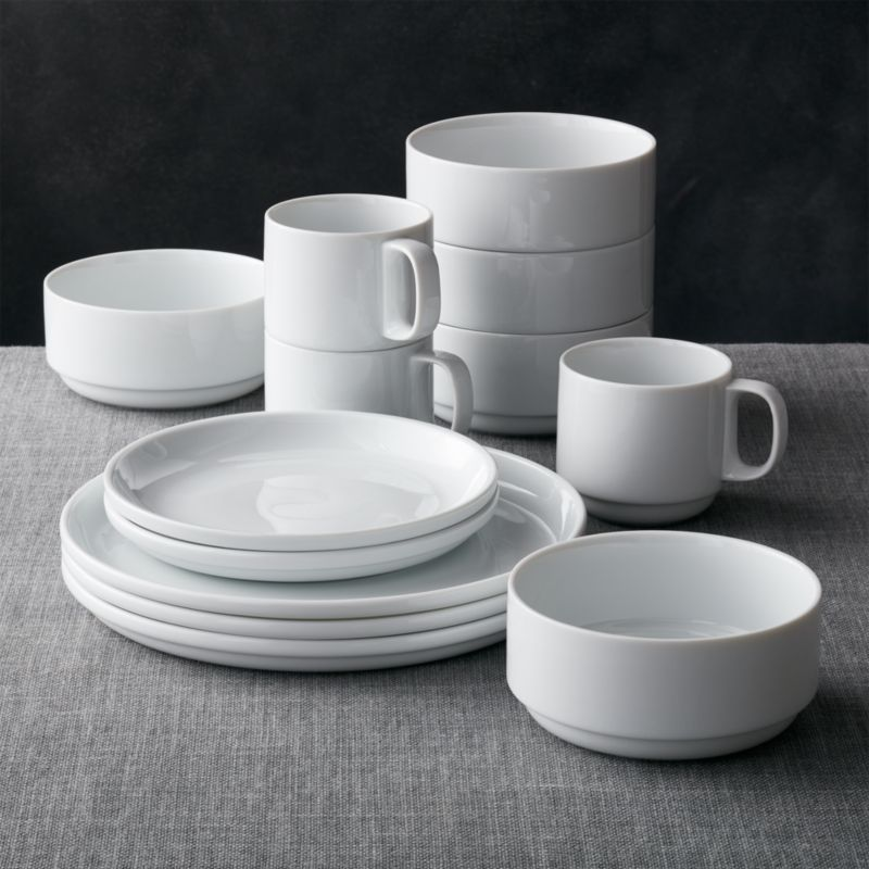 logan stacking dinnerware