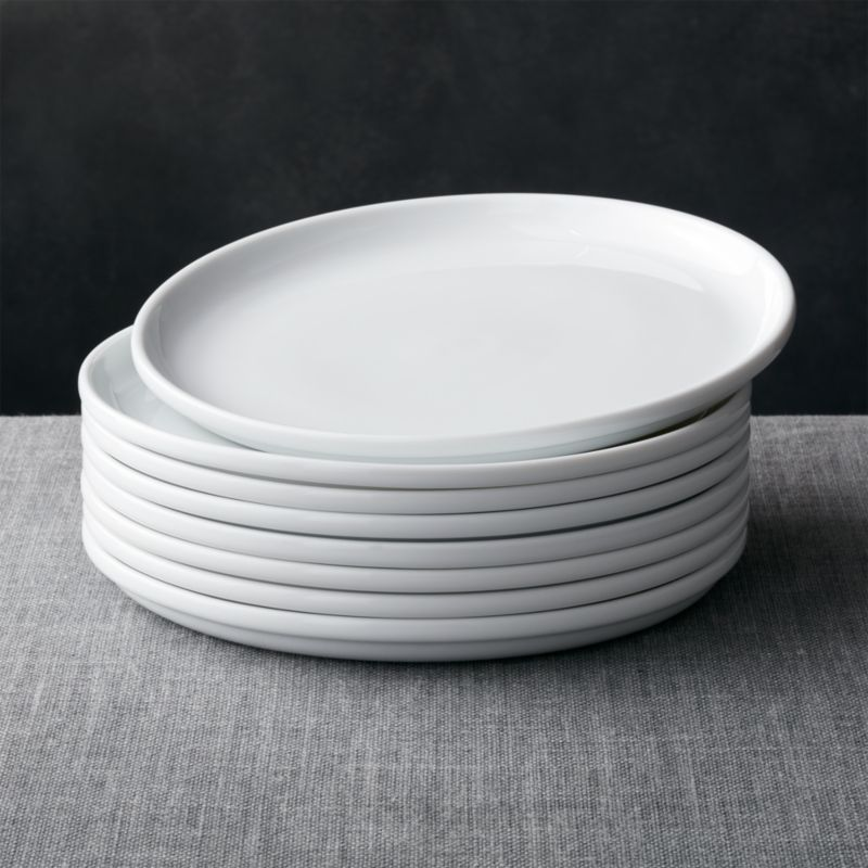 & Set of 8 Logan Stacking Dinner Plates + Reviews | Crate and Barrel