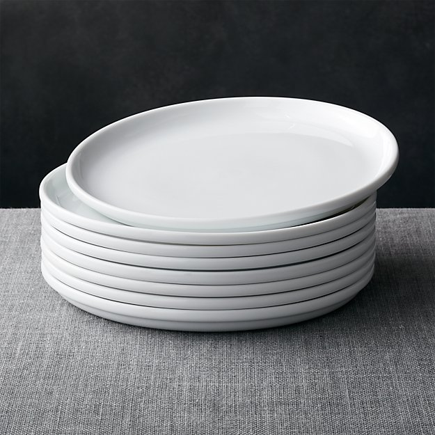 White Kitchen Plates For Registry