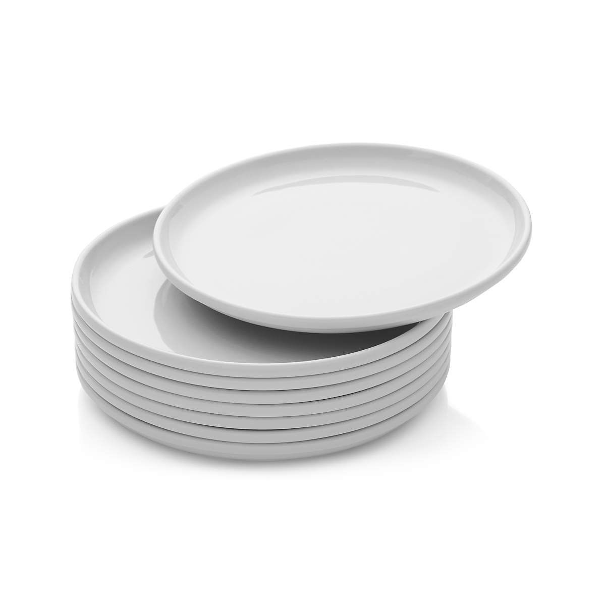 Set Of 8 Logan Stacking Dinner Plates Reviews Crate And Barrel